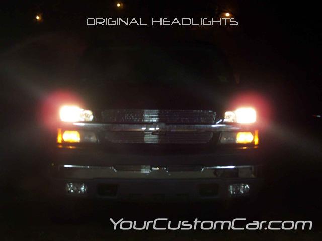 chevy silverado, original headlights,