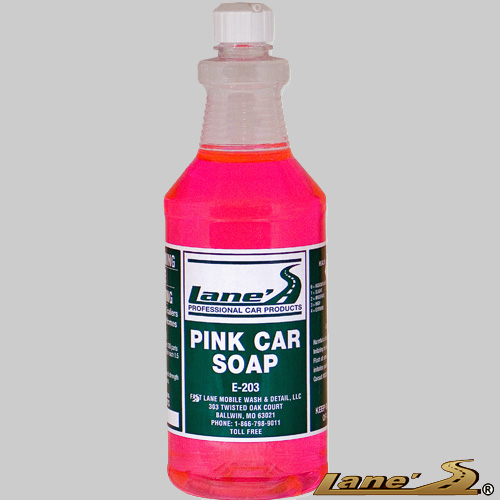 best car wash soap, lane's pink car soap, yourcustomcar.com car wash