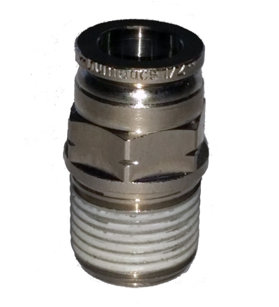 air fitting, air bag suspension, 1/2 inch, push to connect, metal, air ride, air bag, ptc-1212