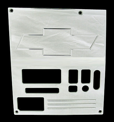 88, 89, 90,chevrolet, gmc, radio plate blank with bowtie and window, empire rb1b1p