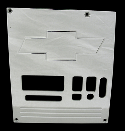 88, 89, 90,chevrolet, gmc, radio plate blank with bowtie, empire rb1bp