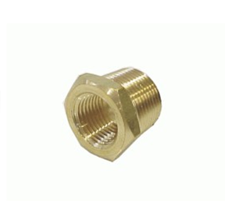 air fitting reducer, 1/2 male, 3/8 female, npt, fitting, air suspension, nickel plated