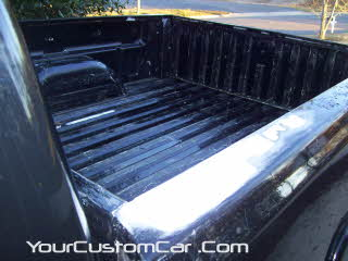 shave bed rails, shave stake holes, shave chevrolet, silverado stake holes, weld holes in truck bed, bondo stake holes, shave truck bed