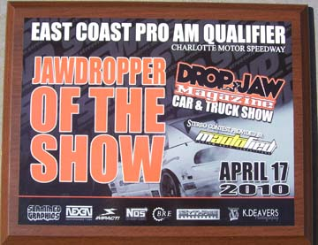 streetwise drift, drop jaw, car show, charlotte, speedway, 4-17-10, Jaw Dropper Award