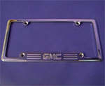 license plate frame, tag frame, gmc, empire 320gp