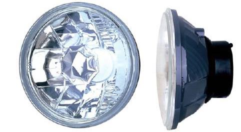 sealed beam conversion, 5 inch headlights, diamond clear, hot rod headlights, universal head lights