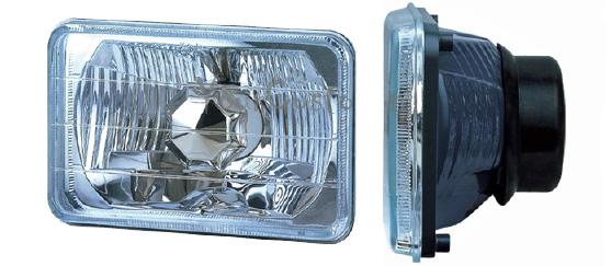 sealed beam conversion, 5 inch rectangular, headlights, diamond clear, hot rod headlights, universal head lights
