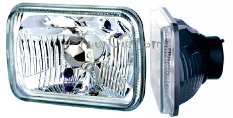 sealed beam conversion, 7 inch rectangular, headlights, diamond clear, hot rod headlights, universal head lights