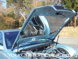 custom impala ss, hood mirror