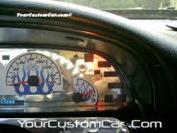 custom impala ss speedometer