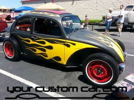 flamed beetle, friends in low places, car show