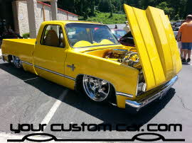 custom c10, friends in low places, car show