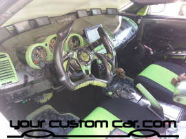 custom scion interior, friends in low places, car show