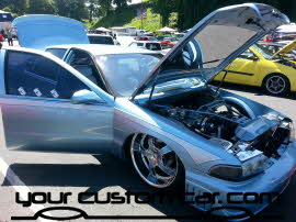 custom impala ss, yourcustomcar, friends in low places, car show, chromed out impala engine