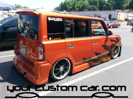 flame scion, friends in low places, car show