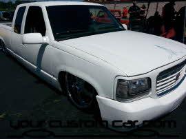 custom silverado, friends in low places, car show