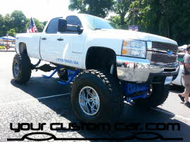 lifted chevrolet, friends in low places, car show