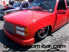 custom silverado at friends in low places, custom car show, custom truck show