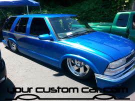 custom blazer paint, friends in low places, car show