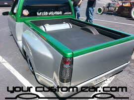 custom k1500, air suspension, friends in low places, car show