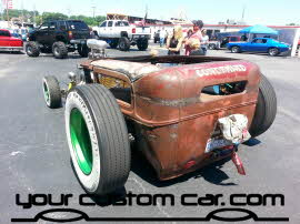 chopped rat rod, friends in low places, car show