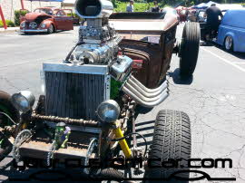 rat rod supercharger, friends in low places, car show