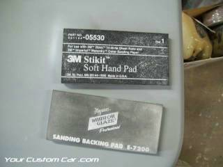 sand paper backing pad