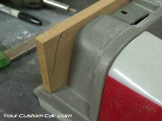cut wood for door panels