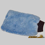 microfiber wash mit, car wash mitt, microfiber car wash mitt, blue wash mitt