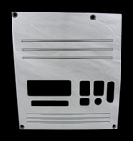 88, 89, 90,chevrolet, gmc, radio plate blank with lines and window, empire rb1lp