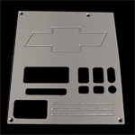 91, 92, 93, 94,chevrolet, gmc, radio plate blank with chevy bowtie and window, empire rb2b1p