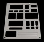 93, 94, chevrolet, gmc, radio plate with 1 window, empire rd5-1p