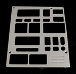 93, 94, chevrolet, gmc, radio plate with 2 windows, empire rd5-2p