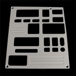 93, 94, chevrolet, gmc, radio plate with 1 window, empire rd6-1p