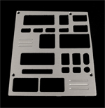 93, 94, chevrolet, gmc, radio plate with 2 windows, empire rd6-2p