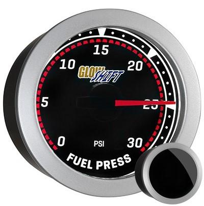 tinted, fuel pressure gauge, black face fuel pressure gauge, 30 psi fuel gauge