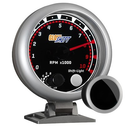 tinted, classic, tachometer, led tachometer gauge, tach gauge, black tack gauge, led tack gauge