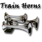 train horn, triple, chrome horn, air horn, big rig horn, car show horn, blaster
