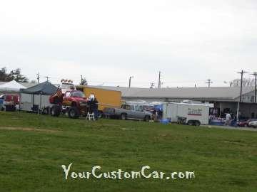 Custom Truck Wheels at the Lake