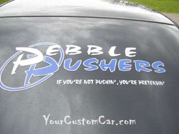 Pebble Pushers Decal