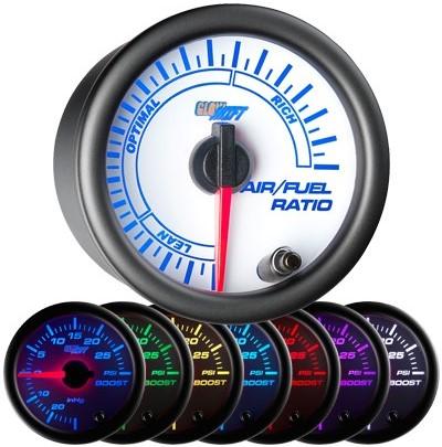 narrow band air fuel ratio gauge, narrowband air fuel ratio gauge, white afr gauge, led afr gauge, air fuel gauge
