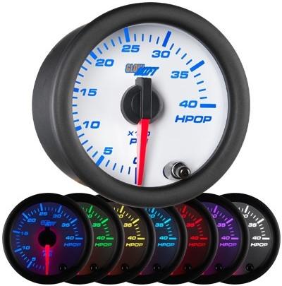 white face oil pressure gauge, hi pressure oil gauge, led oil pressure gauge
