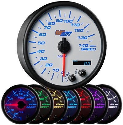 7 color speedometer, led speedometer gauge, speedometer gauge, white speed gauge, led speed gauge