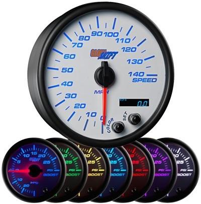 7 color speedometer, led speedometer gauge, speedometer gauge, white speed gauge, led speed gauge