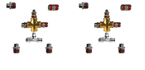 """air fitting kit, air suspension fitting kit, 1/2"""", half inch, front back, fittings for air bag suspension, fitting kit"""