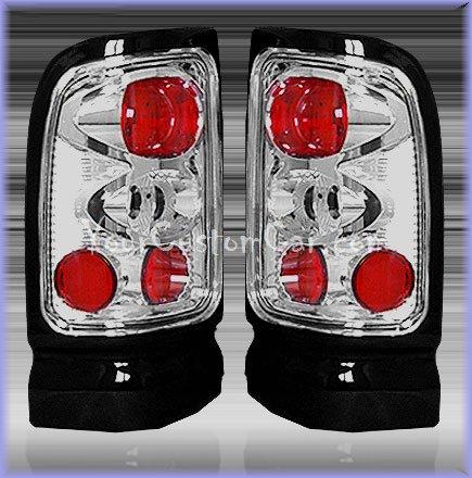 dodge ram tail lights, custom tail lights, chrome tail light, ram tail light, 94-01 dodge taillights