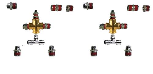 "air fitting kit, air suspension fitting kit, 3/8"" inch, front back, fittings for air bag suspension, fitting kit"
