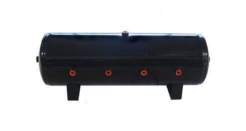 air tank, 7 gallon, black, 1/2 inch ports, 7 port