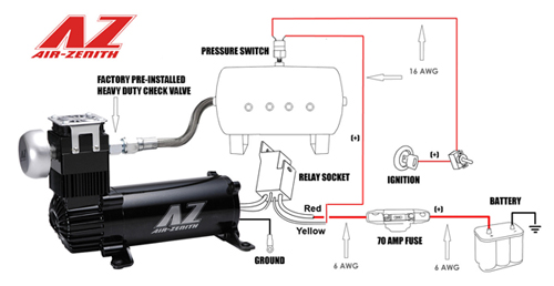 air zenith, ob2, wiring, diagram, compressor