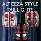 custom tail lights, taillights, altezza, chrome, black, smoke